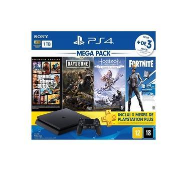 Playstation 4 1tb Slim + 3 Jogos Ed 11