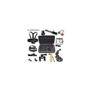 Imagem de Kit P Gopro Hero 9 Black Mala Caixa Estanque Bastao Guidao