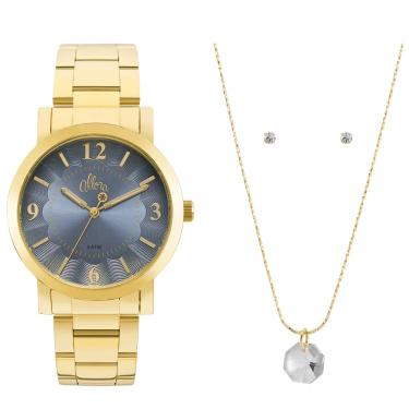e913d83e7b3 Lux GoldenComprar · Relógio Feminino Allora Al2035fna k4a Dourado