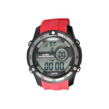 8dc9f38a6f4 Relógio Digital Speedo 81147G0 - Masculino - Vermelho Preto Speedo