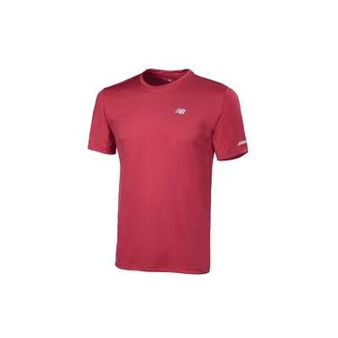 Camiseta de Manga Curta New Balance Refletivos Performance | Masculino Vermelho - P