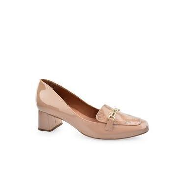 Sapato Feminino Couro Salto Médio Luz Da Lua New Ridge S47812