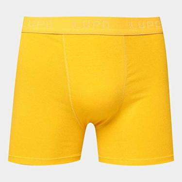 Cueca Lupo AM Boxer,Lupo,Masculino Amarelo Ouro G