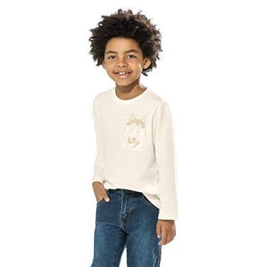 Camiseta Infantil Masculina Trick Nick Bege 14