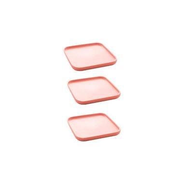 Imagem de Jogo petisqueiras Bon Gourmet Nórdica 15x2cm 3 peças rosa