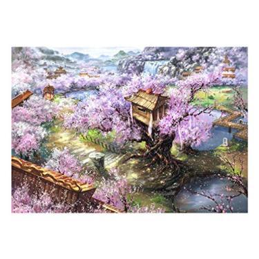 Imagem de TOYANDONA Quebra-cabeça de 1000 peças Jogos intelectuais Brinquedos Flor Quebra-cabeça de madeira Crianças Adultos (cor sortida)