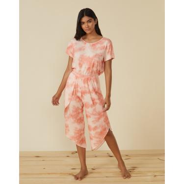 calça pantacourt pijama tie dye Feminino AMARO COLORIDO EGG