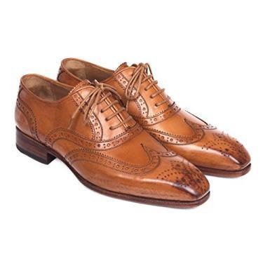Paul Parkman Sapatos de conhaque Oxford Wingtip (ID#5447-CGN) Tamanho, Amarelo, 8-8.5