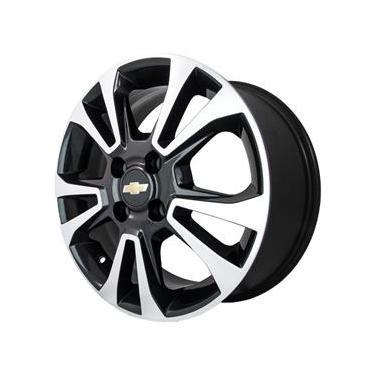 Jogo de Rodas Chevrolet Onix Ltz Aro 15 x 6,0 4x100 ET45 R42 Preto Diamantado
