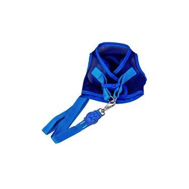 Colete Peitoral - Aerado Com Velcro Azul  Gg