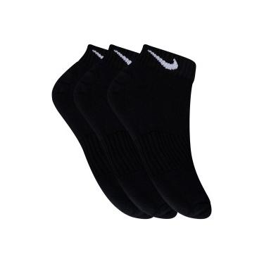 Kit de Meias Cano Baixo Nike Swoosh com 3 Pares - Adulto - PRETO Nike 3579d4d0fa287
