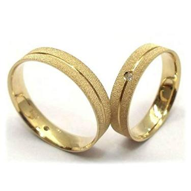 Imagem de Par Alianças De Casamento E Noivado Ouro 18k