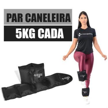 Imagem de *Par de Caneleiras com Peso 5 Kg - Natural Fitness