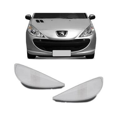 Lente Farol Peugeot 207 2009 2010 2011 2012 2013 2014 2015 Cristal