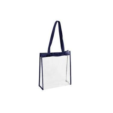 Bolsa Transparente Azul Marinho Plástico Praia Piscina
