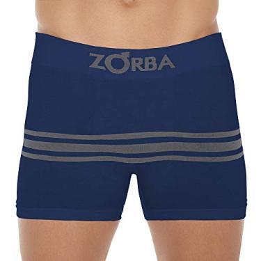 Cueca Boxer Zorba Seamelss Listras 843 P Marinho