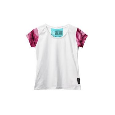Camiseta Baby Look Feminina Algodão Estampa Estilo Leve Moda Rosa/Branco