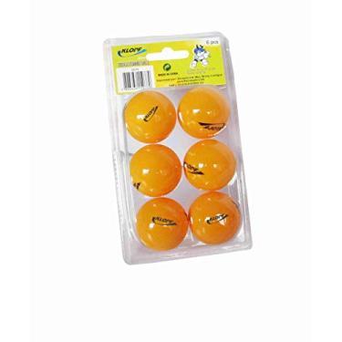 Kit Bola De Tênis Mesa Klopf 5076 - Ping Pong 40mm Laranja