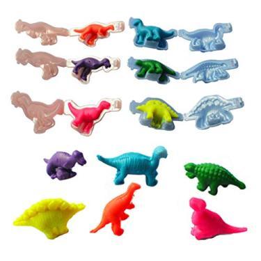 Y-QUARTER Moldes de silicone artesanais criativos feitos à mão, ferramentas de molde de plasticina de dinossauro, kit de brinquedos de argila para modelar massa, artesanato, ferramenta para fazer presentes
