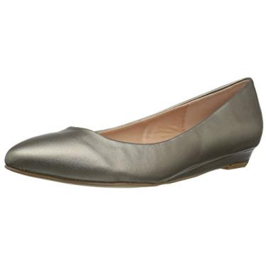 Brinley Co Sapatilha feminina Wilda Ballet, Pewter, 8