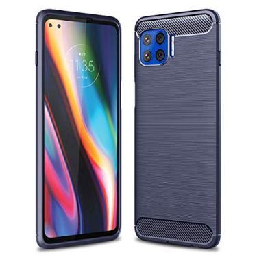 SHUNDA Capa para Motorola Moto G 5G Plus, capa protetora ultrafina de TPU macia antiderrapante à prova de choque para Motorola Moto G 5G Plus de 6,5 polegadas - azul