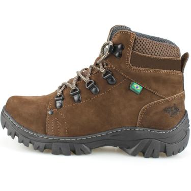 Bota Way Boots Adventura Masculina Cano Médio Chocolate  masculino