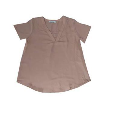 Blusa bata em Crepe decote V com fenda nas costas Rabusch
