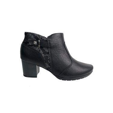 Bota Piccadilly Ankle Boot Preto Feminino