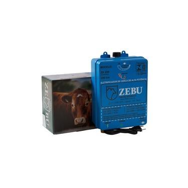 Imagem de Eletrificador De Cerca Elétrica Rural Zebu ZK200 Bivolt Azul