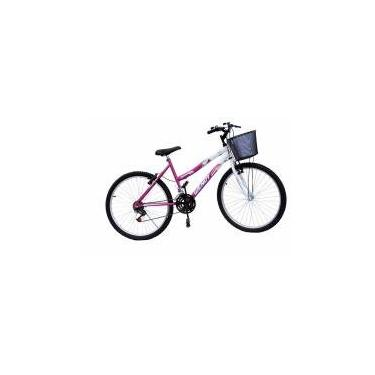 Bicicleta aro 26 wendy fem mtb 18m convencional cor pink -
