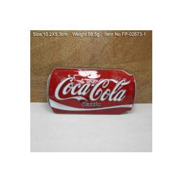 Fivela para cinto Coca Cola lata retrô old fashion custom