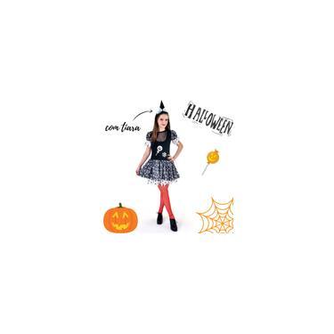 Imagem de Fantasia Vestido Bruxa Adulto Halloween Dia das Bruxas