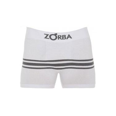 Cueca Boxer Zorba Seamless Listras II S/ Cost Algodão Branca