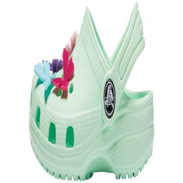 Sandália Classic Butterfly Charm clg ps Verde Claro.  menina
