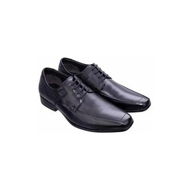 Sapatos Sociais Democrata Masculino Preto Liso 031114-001