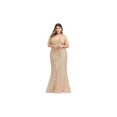 Vestido De Festa Longo Plus Size - Formatura, Madrinha, Casamento, Gala, Coquetel