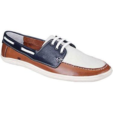 Sapato Masculino Dockside Sandro Moscoloni King Island Marrom/Branco (39)