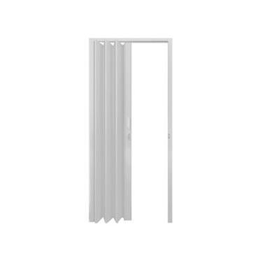 Porta Sanfonada de PVC Polifort 80cm x 2,10m Cinza