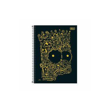 Caderno Universitário Espiral Capa Dura 16 Matérias 320 Folhas Simpsons  Preto Tilibra c802f60d5d7db
