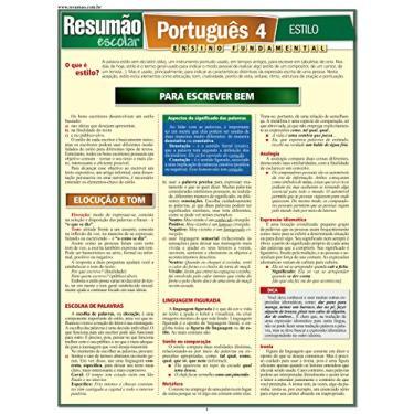 Resumão Escolar - Português 4 - Estilo - Ensino Fundamental - Leme, Odilon Soares - 9788577112104