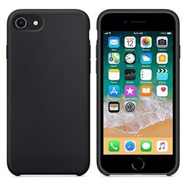 Capa para Celular Iphone 7/8 Plus Preto Silicone - Hrebos