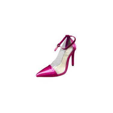 Imagem de Sandálias pontudas femininas com tira no tornozelo bombas de salto alto sandálias de salto agulha sapatos de festa cool29251