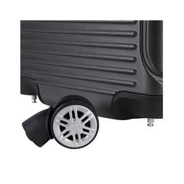 Mala de Bordo para Viagem em ABS Yins 21072 Rodas Removíveis Duplas Cadeado Integrado TAM PP - Cinza