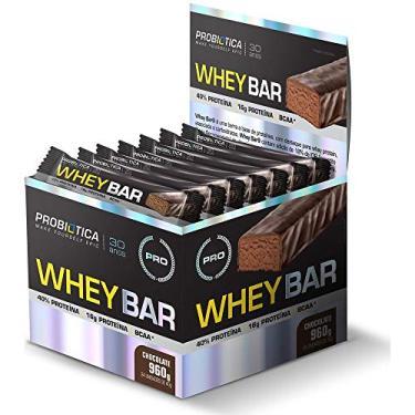 Whey Bar (Caixa 24 Barras) - Probiotica Sabor Chocolate