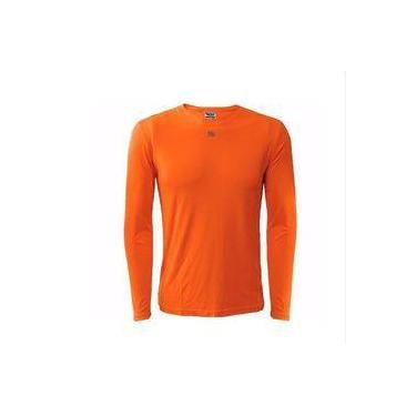 be4c9250b Camisa Térmica Com Proteção Uv 50 Fps Laranja - Para Bike   Pesca - Kanxa