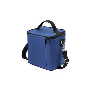 Bolsa Térmica Frasqueira Lancheira Marmita Azul Jacki Design