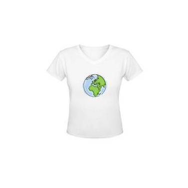 Camiseta Gola V Terra Draw