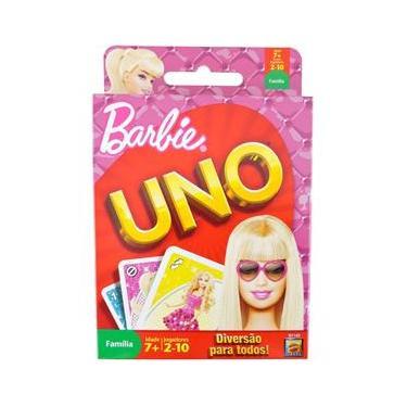 Imagem de Jogo Uno da Barbie da Mattel de 2 a 10 Jogadores