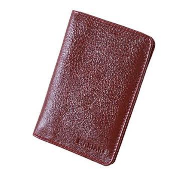 Carteira Couro Legítimo Masculina Porta Documentos Carro Cnh 70 (Vermelho)