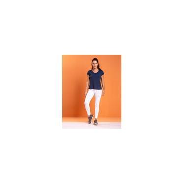 Imagem de Calça Legging em Jacquard com Cós Anatômico Metro Premium Branco
